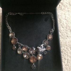 Betsey Johnson Crystal Necklace Mockingbird